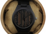 Engraved Ebony Men Watch Wood Watch,Personalized Wood WatchW042)
