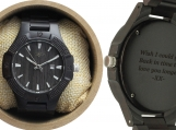 Engraved Ebony Men's Watch (W064)
