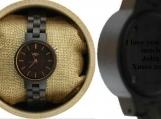 Engraved Ebony Womens Watch With Ebony,Women wood watch(W050)