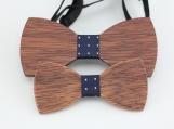 Engraved Father and Kid Bowtie