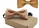 Engraved Large Butterfly Cork Bow Tie - Plain Cork Bands (B0301)