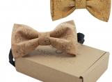 Engraved Large Butterfly Cork Bow Tie - Plain Cork Bands2(B0306)