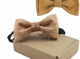 Engraved Large Butterfly Cork Bow Tie - Plain Cork Parts (B0304)