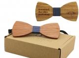 Engraved Large Round Zebrawood Bow Tie- Adult Size (B0025)
