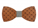 Engraved Red Sandalwood Bow Tie with Stylish Engraving(B0086)
