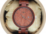 Engraved Red Sandalwood Unisex's Watch (W053)