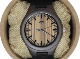 Engraved Walnut Wood Men Watch,Leather Watch, EngraveWatch(W104)