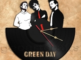 Green Day Band Wall Clock Vinyl Record Clock Handmade