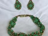 Handmade Bracelet and Earrings Set A6 Marvelous Green