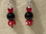 Handmade Crystal Mini Mouse Earrings