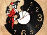 Harley Quinn Vinyl Record Clock
