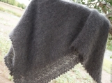 Heavy Warm Orenburg Shawl with, Downy Goat, Hand - Knitting Shaw