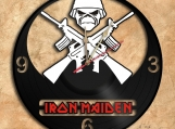 Iron Maiden Wall Clock Vinyl Record Clock
