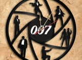 James Bond 007 Wall Clock Vinyl Record Clock Free Shipping