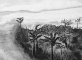 Landscape  gift ,Ink and water painting  ,Black White Art