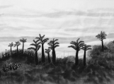 Landscape Handmade Painting Chinese black white art Aisa art