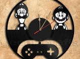 Mario & Luigi Wall Clock Vinyl Record Clock home decoration