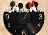 Mickey and Minnie Wall Clock Vinyl Record Clock Free Shipping