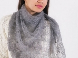 Orenburg down-hair knitting, Orenburg Scarf, warm gossamer shawls tippet stole
