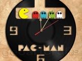 Pacman Wall Clock Vinyl Record Clock
