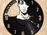 Rihanna Wall Clock Theme Record Clock