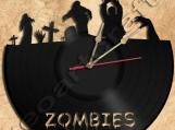 Zombie Vinyl Record Clock