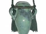 "3 1/2"" Hanging Urn,Pale Green / handmade stoneware pottery"