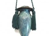 "4"" Pale Blue  Green Hanging Keepsake Urn"