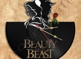 Beauty and the Beast Wall Clock Vinyl Record Clock Free Shipping