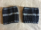 Boot cuffs (black & metallic grey)