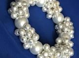 Bracelet and Earrings A5 White sky