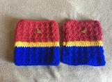 Crochet Wonder Woman Boot Cuffs