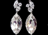 Dazzling Extra Large Swarovski Marquis Earrings 140
