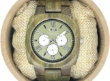 Engraved Angie Wood Creations Green Sandalwood Men's Watch(W120)
