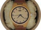 Engraved Bamboo Men's Watch (W106)