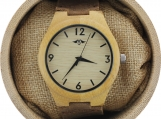 Engraved Bamboo Men's Watch With Bamboo Dial (W084)