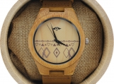 Engraved Bamboo Men's Watch With Bamboo Dial (W085)