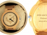 Engraved Bamboo Men's Watch With Laser Engraved (W028)