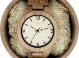 Engraved Bamboo Men's Watch with Pale Bamboo Dial (W037)