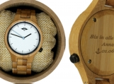 Engraved Bamboo Unisex's Watch  (W103)