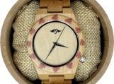 Engraved Bamboo Women's Watch (W095)