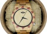 Engraved Bamboo Women's Watch (W095)
