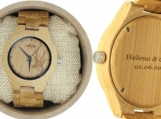 Engraved Bamboo Women's Watch With Bamboo Bracelet (W140)