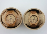 Engraved Bamboos Couple's Watch With Bamboo Dial (W086)