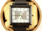 Engraved Dark Sandalwood Men's Square Watch (W145)
