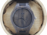 Engraved Dark Sandalwood Men's Watch (W075)