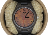 Engraved  Dark Sandalwood Men's Watch (W098)