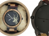 Engraved Ebony and Zebrawood Men's Watch (W139)