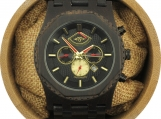 Engraved Ebony Men's Automatic Watch With Ebony Dial (W147)