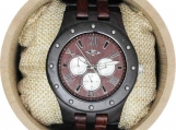 Engraved Ebony Men's Watch (W097)